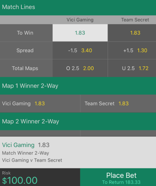 TI9 Lower Bracket Betting Prediction: Vici Gaming vs Team Secret